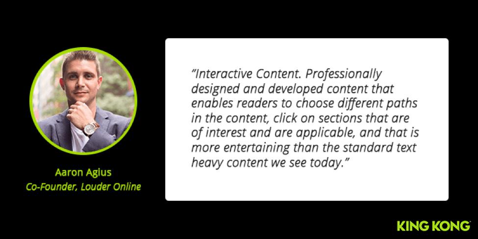 Aaron Agius Interactive Content