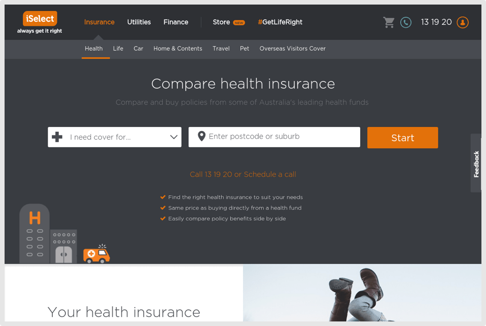 Compare Insurance Page