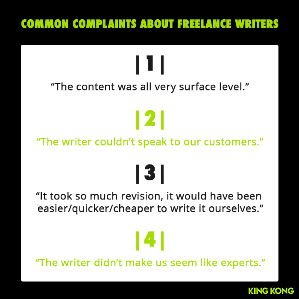 Complaints Freelance Writers-min