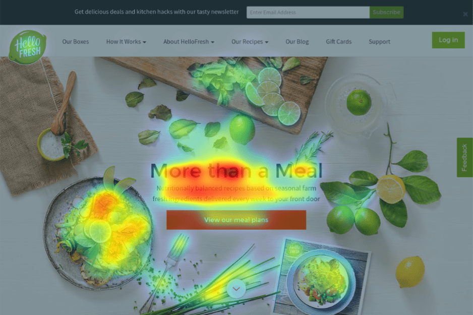 Homepage Heatmap