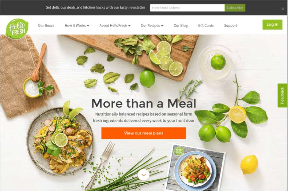 HelloFresh Homepage