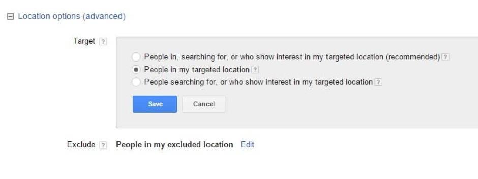 Location Targeting Adwords