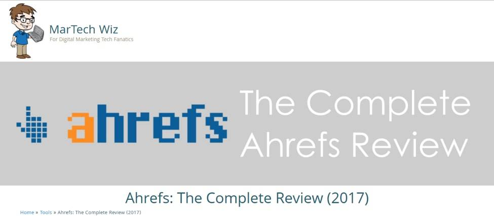 Martech Wiz Ahrefs Review