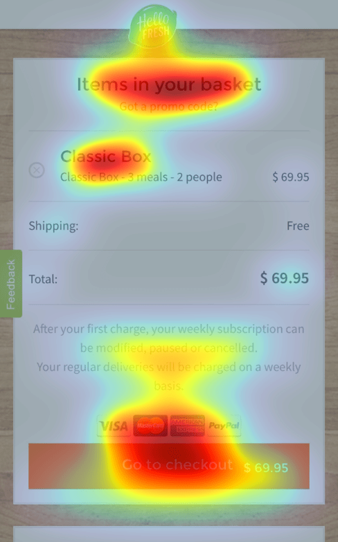 Mobile Basket Heatmap