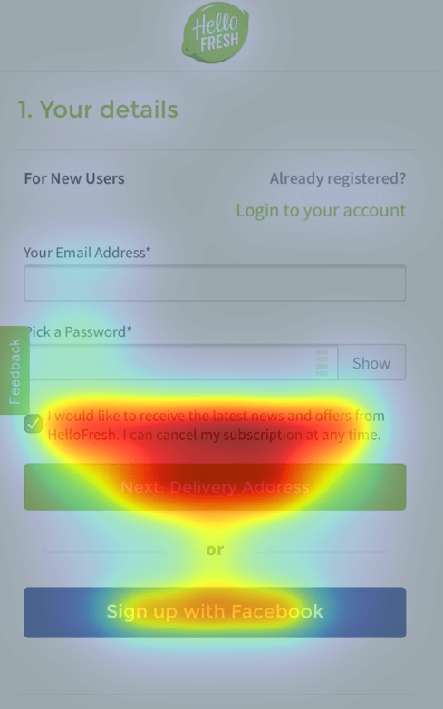 Mobile Checkout Heatmap