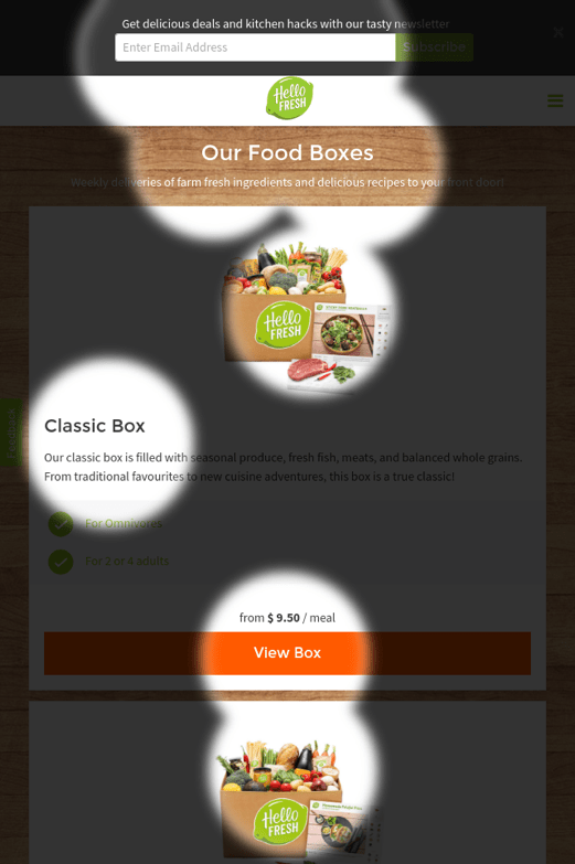 Mobile Food Boxes Attention Map