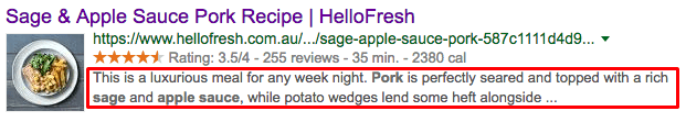 Recipe Title SERPs