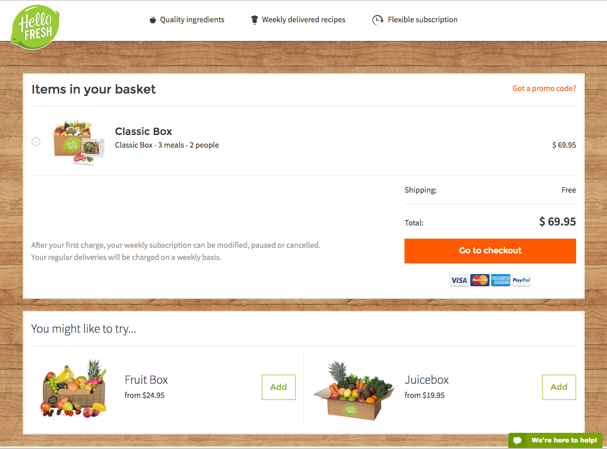 HelloFresh Basket