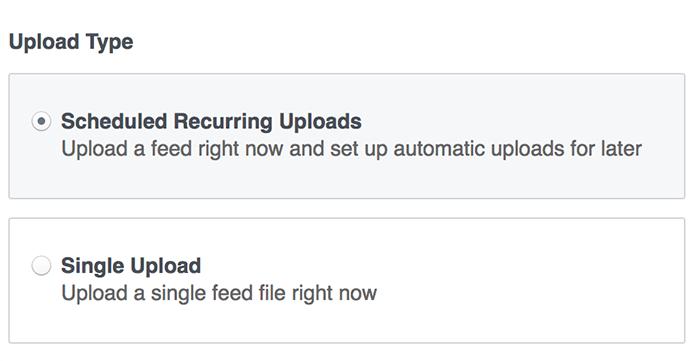 Facebook Upload Type