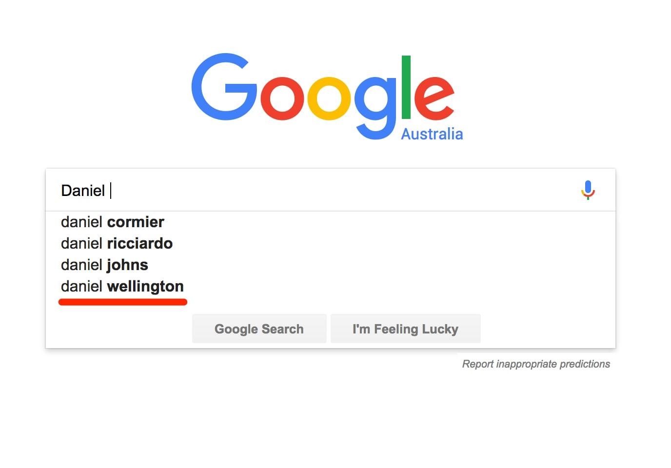 Google Search Daniel