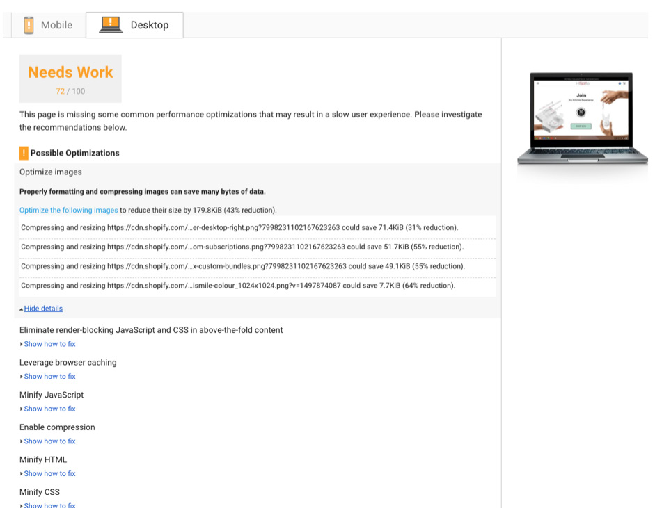 We Ran HiSmiles Website Through A Few Other Resources Starting With Pingdom Another Awesome Tool For