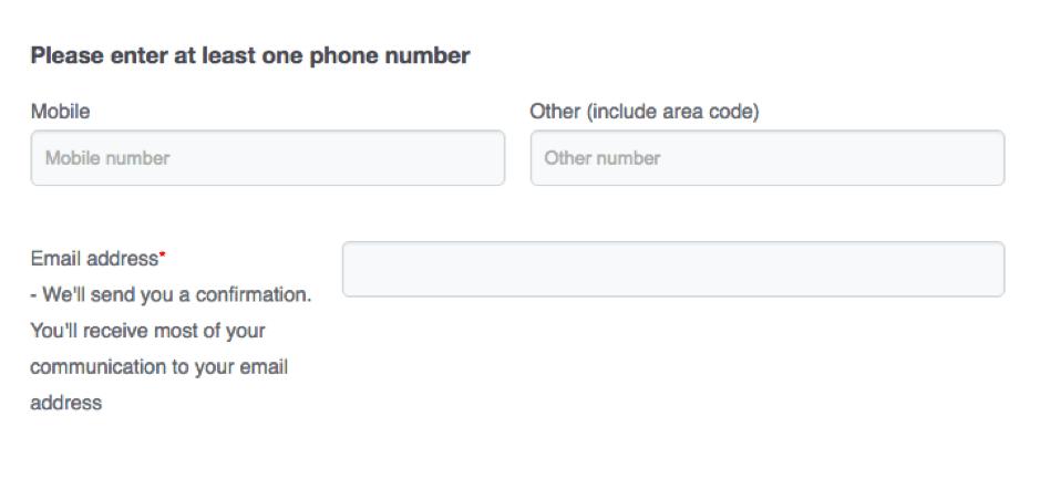 E-mail Marketing Form