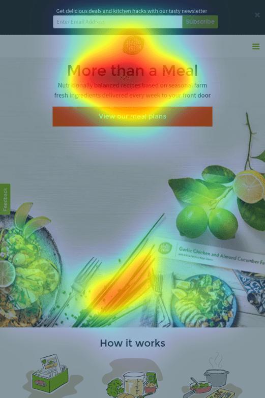 Mobile Homepage Heatmap