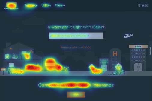 Homepage old heat map