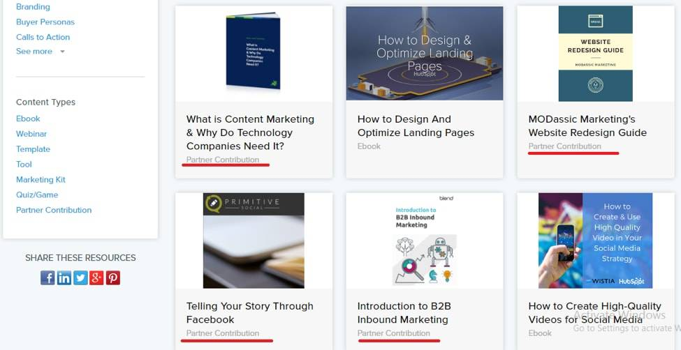 Hubspot Marketing Resources Library