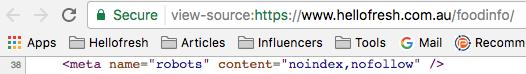 Root Domain No Index