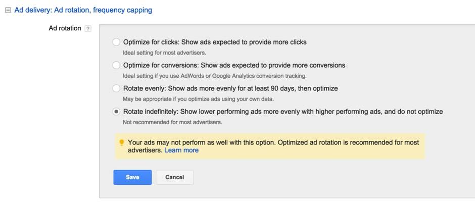Ad Rotate Adwords