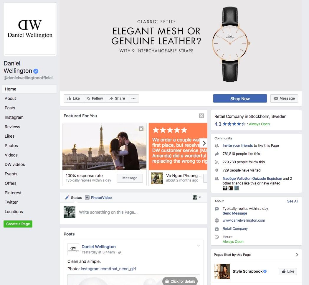 DW Facebook Page
