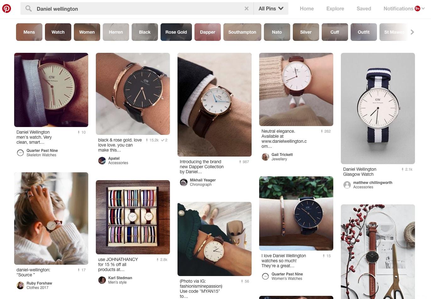 DW watches Pinterest