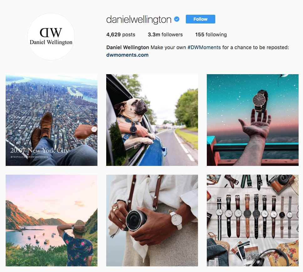 Daniel Wellington Instagram