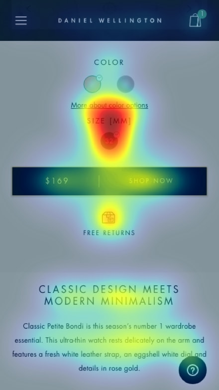 Mobile Product Page 2 Heat Map