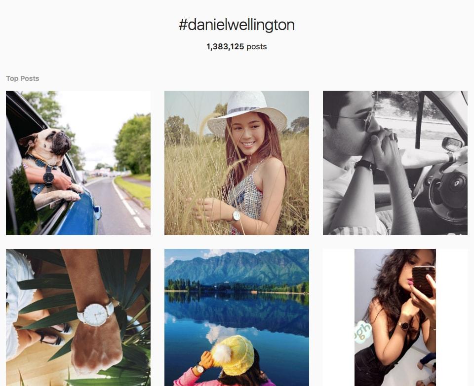 hashtag daniel wellington