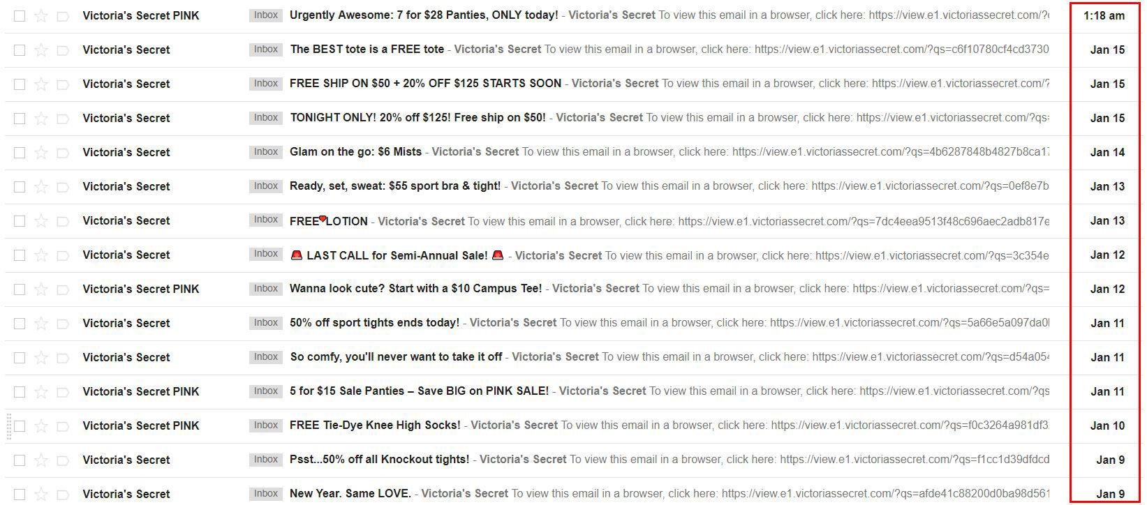 28-Inbox snapshot highlights