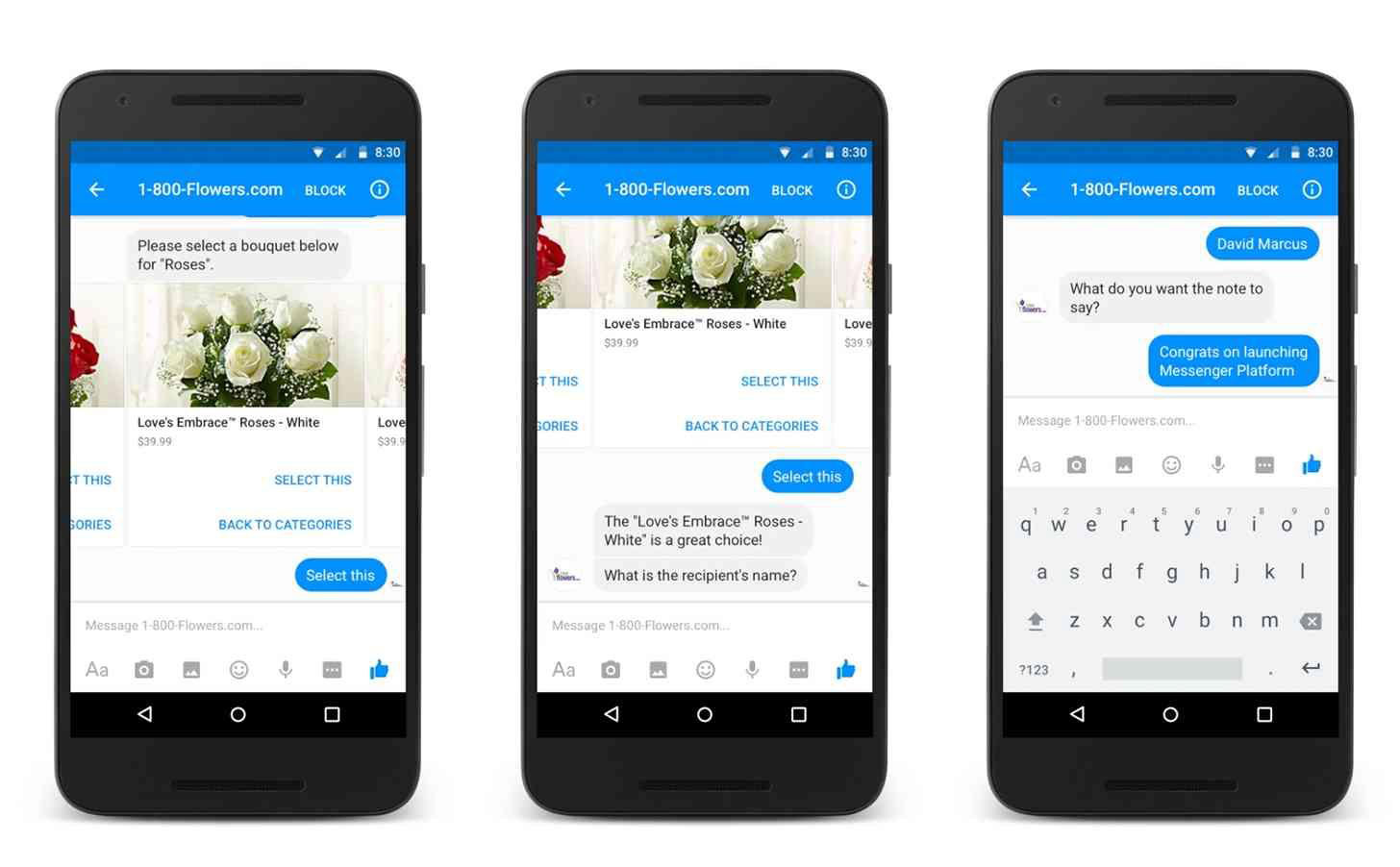1-800 Flowers chatbot sales support