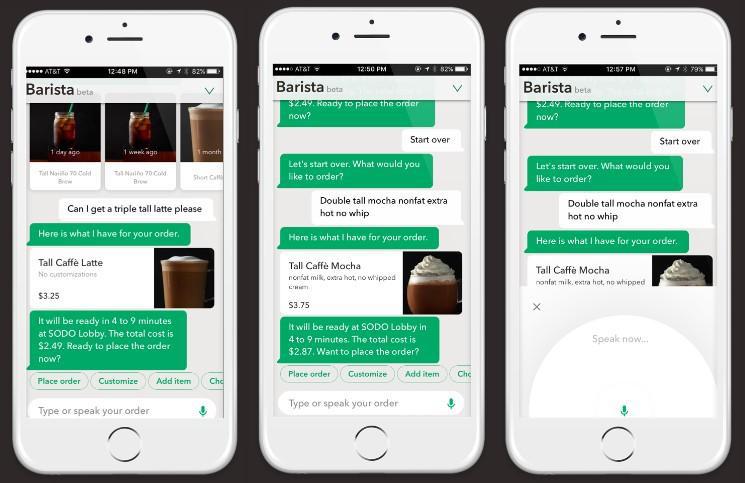 Starbucks Barista bot sales chat